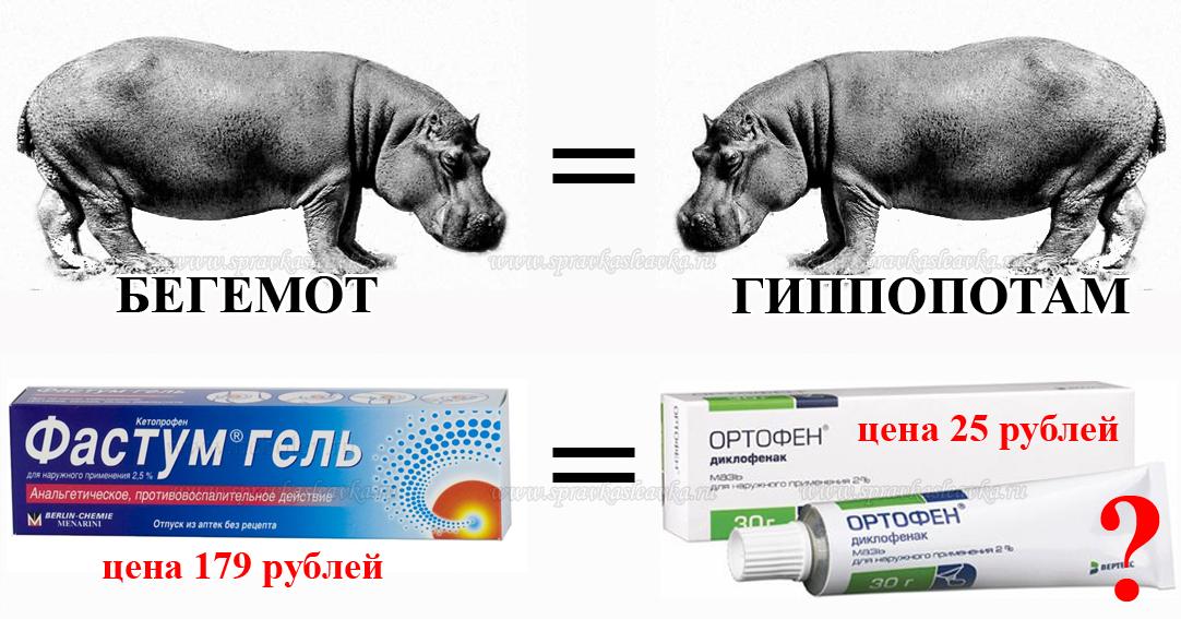 заменители лекарств