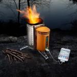 BioLite CampStove — Зарядка мобильника на дровах