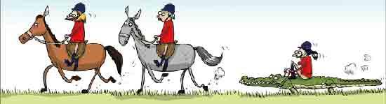 Кто седлает коня не будучи всадником
