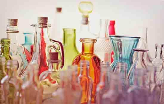 Бутылка объемом со стакан