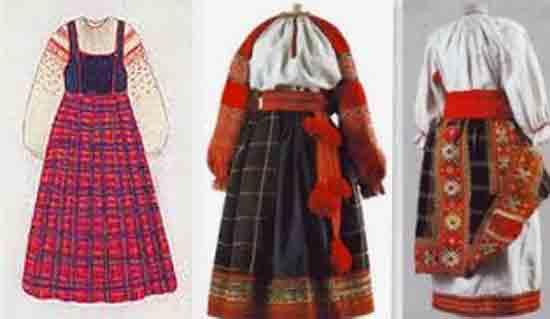 Белорусская юбка в клетку
