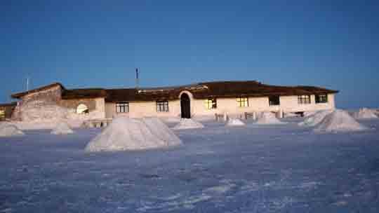 Страна, где построили мотель, полностью состоящий из соли