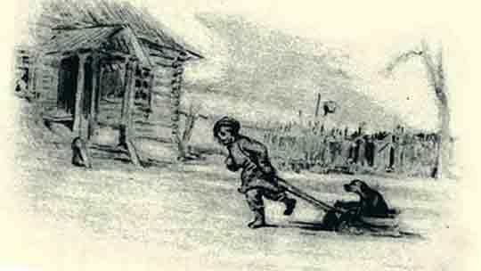 Какую собаку катает на санках дворовый мальчик из «Евгения Онегина»