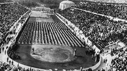 Кто принял участие в специальном заплыве на 100 м вольным стилем на первых Олимпийских играх современности